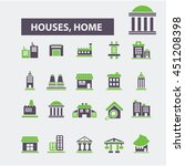 houses  home icons   Shutterstock .eps vector #451208398