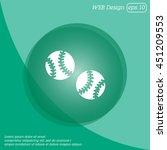 web icon. baseball | Shutterstock .eps vector #451209553