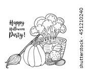 coloring book page design with... | Shutterstock .eps vector #451210240