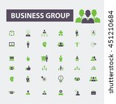 business group icons | Shutterstock .eps vector #451210684