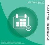 web line icon. calendar | Shutterstock .eps vector #451211449