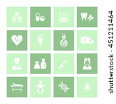 medical   healthcare icon set.... | Shutterstock .eps vector #451211464
