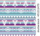 ethnic pattern  | Shutterstock .eps vector #451211470