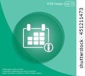 web line icon. calendar | Shutterstock .eps vector #451211473