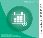 web line icon. calendar | Shutterstock .eps vector #451211716