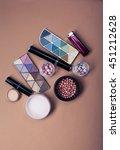 set of decorative cosmetics on... | Shutterstock . vector #451212628