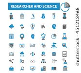 researcher and science icons | Shutterstock .eps vector #451213468