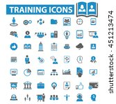 training icons | Shutterstock .eps vector #451213474