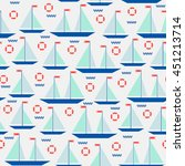 cute seamless pattern with... | Shutterstock .eps vector #451213714