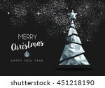 merry christmas and happy new... | Shutterstock .eps vector #451218190