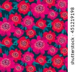 bright pink and red decorative... | Shutterstock .eps vector #451219198