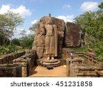 Aukana Buddha standing statue of the Buddha near Kekirawa in North Central Sri Lanka
