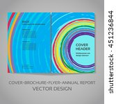 vector template for   cover ... | Shutterstock .eps vector #451236844