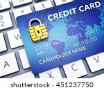 credit card with security chip... | Shutterstock . vector #451237750