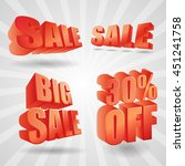 3d vector sale design elements... | Shutterstock .eps vector #451241758