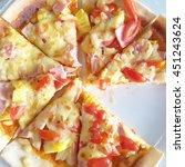 Home Delivered Hawaiian Pizza...