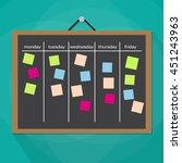scrum task board hanging on... | Shutterstock .eps vector #451243963