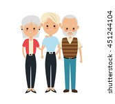 family cartoon concept... | Shutterstock .eps vector #451244104