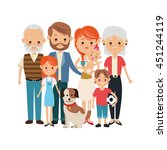 family cartoon concept... | Shutterstock .eps vector #451244119