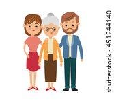 family cartoon concept... | Shutterstock .eps vector #451244140
