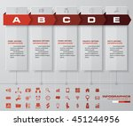 5 steps timeline template and... | Shutterstock .eps vector #451244956