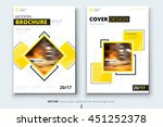 brochure design. corporate... | Shutterstock .eps vector #451252378