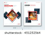 brochure design. corporate... | Shutterstock .eps vector #451252564