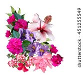 Tropical Flowers Bouquet Isolated A - Fine Art prints