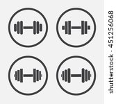 dumbbell vector icon | Shutterstock .eps vector #451256068