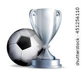 silver cup with a football ball | Shutterstock .eps vector #451256110