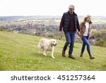 mature couple taking golden... | Shutterstock . vector #451257364