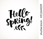 hello spring vector lettering... | Shutterstock .eps vector #451264039