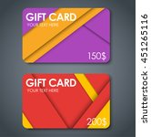set of gift cards in style of... | Shutterstock .eps vector #451265116
