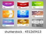 set polygonal gift cards of... | Shutterstock .eps vector #451265413