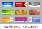 set of gift vouchers. templates ...   Shutterstock .eps vector #451265584
