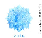 vata dosha abstract symbol with ... | Shutterstock . vector #451267240