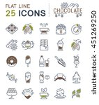 set vector line icons in flat... | Shutterstock .eps vector #451269250