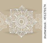 zentangle mandala for coloring... | Shutterstock .eps vector #451270174