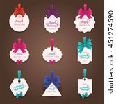 set of realistic retro labels... | Shutterstock .eps vector #451274590