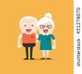 retired elderly senior age... | Shutterstock .eps vector #451278070