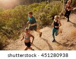 active young people running on... | Shutterstock . vector #451280938