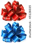 red and blue bows. vector... | Shutterstock .eps vector #45128335