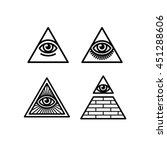 all seeing eye icons set.... | Shutterstock .eps vector #451288606