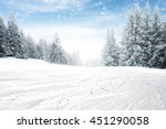 winter space and snow and free... | Shutterstock . vector #451290058