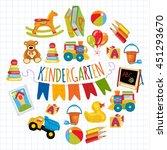 kindergarten play and study... | Shutterstock .eps vector #451293670