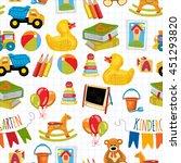 kindergarten play and study... | Shutterstock .eps vector #451293820