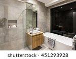 modern bathroom with a shower