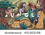 detailed colorful vector... | Shutterstock .eps vector #451303198