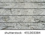 Leaf Pattern On Gray Concrete...