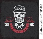 biker theme grunge label with... | Shutterstock .eps vector #451306306